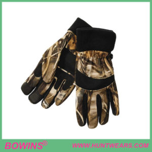 Mens hunting shooter camo gloves