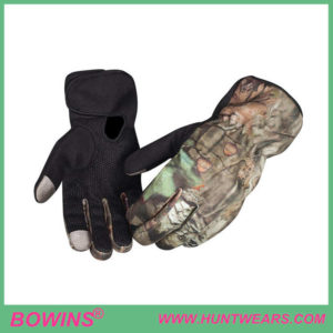 Mens outdoor camo hunting gloves