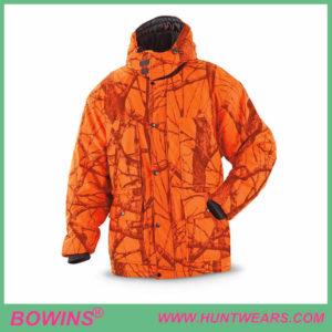 Waterproof Breathable Blaze Hunting Orange Camo Jacket