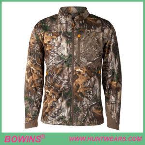 Mens Hunter Windproof Camo Fleece Hunting Jacket Apparel