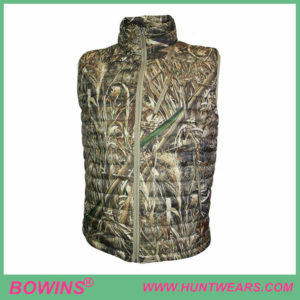 Mens lightweight camo goose down hunting vest