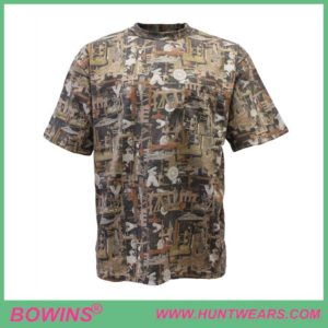 Custom Men's Hunting Short Sleeve Camo Shirt