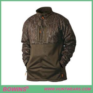 Men's hunter quarter zip softshell bottomland camo hunting gear