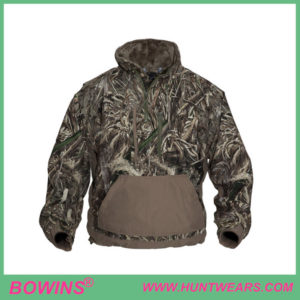 Men's warm 1/4 zip camo hunting hoodie