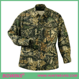 camo long sleeve hunting shirt