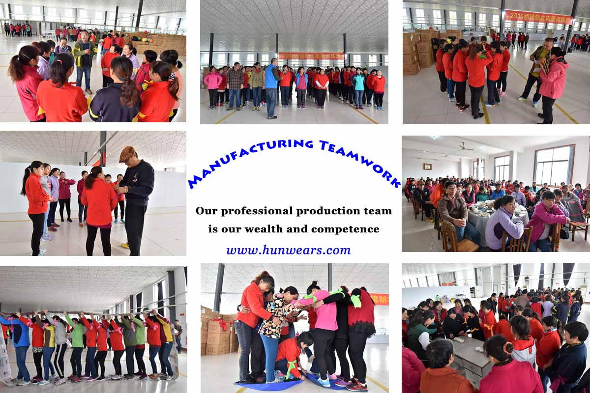 hunting clothes wholesale manufacturing teamwork