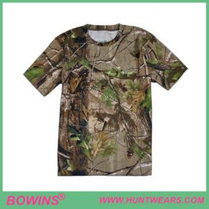 Camouflage Breathable Short Sleeve Hunting T Shirts