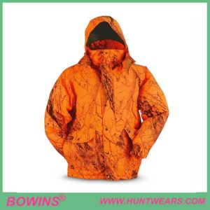 Waterproof Blaze Orange Hunting Jacket